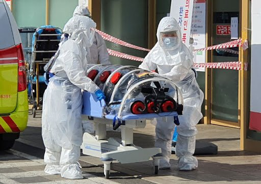 Picture of going to hospital because of coronavirus